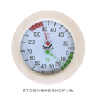 Thermo/Hygrometer Sauna rond hout..