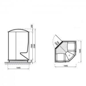 Polyfaser stoomcabine 145/145 Relex Line